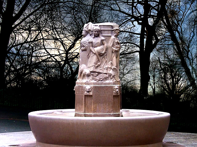 Alice At Loeb Fountain: E77 Sophie Loeb Fountain [Alice]