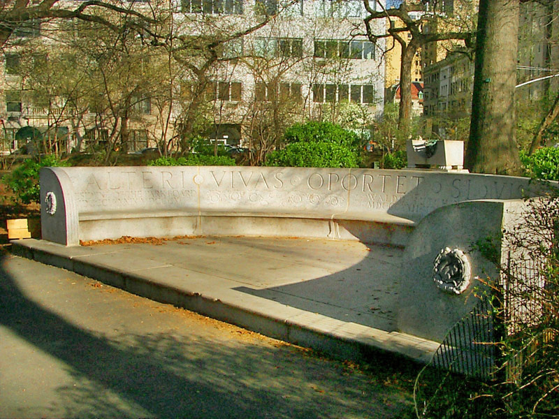 Waldo Hutchins Memorial Bench: E72